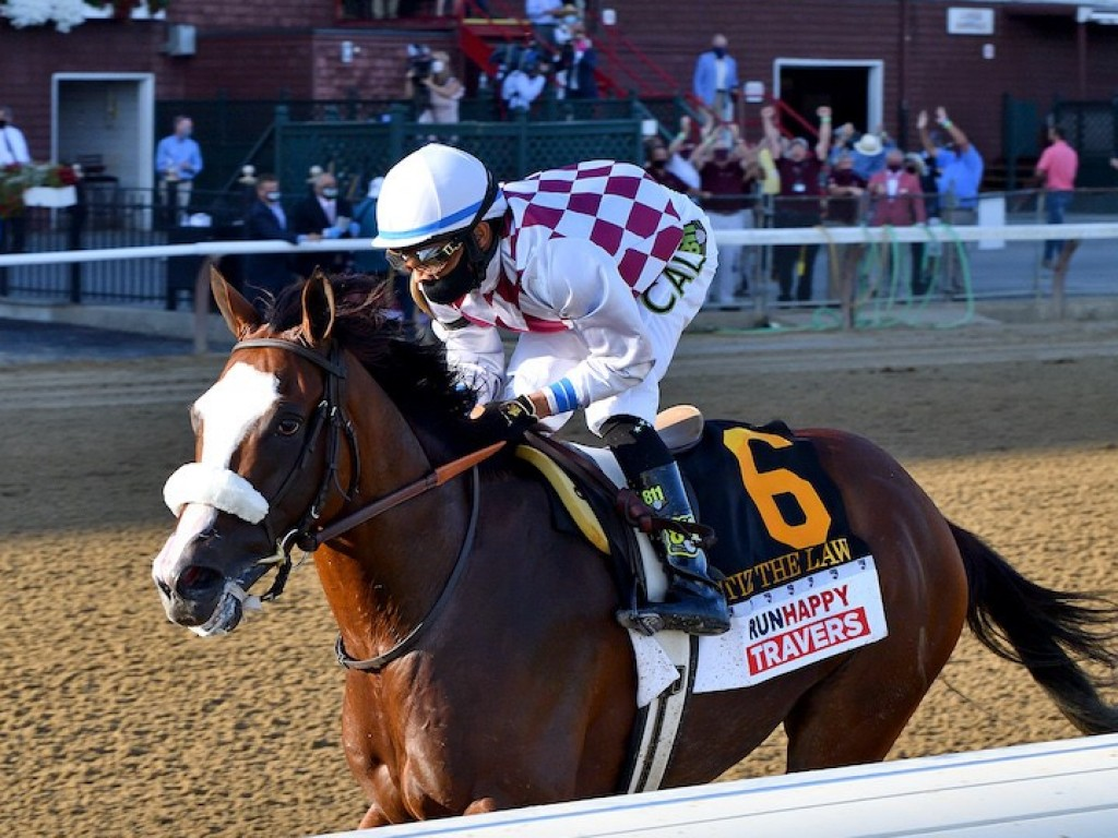 O Príncipe de Nova York: Tiz The Law esbanja superioridade no Traver's Stakes (G1)